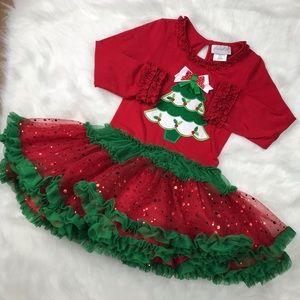 Little Girls Christmas Dress Sz 5